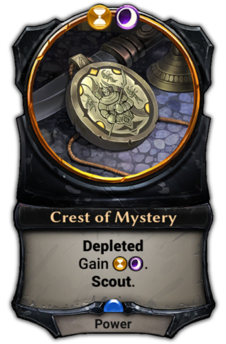 Crest of Mystery card