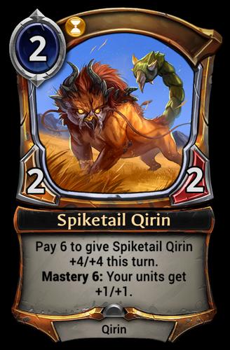 Spiketail Qirin card