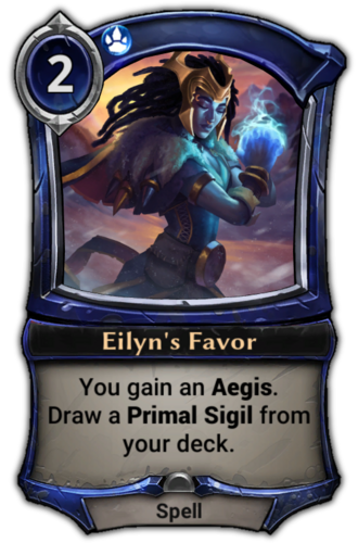 Eilyn's Favor card