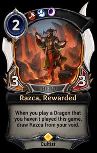 Razca, Rewarded