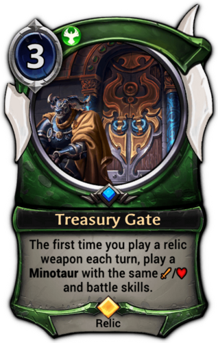 Treasury Gate card