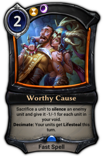 Worthy Cause card