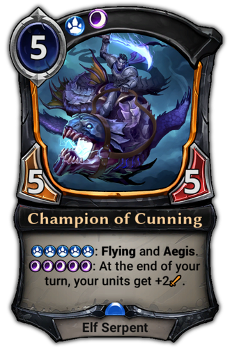Champion of Cunning card