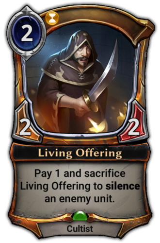 Living Offering card