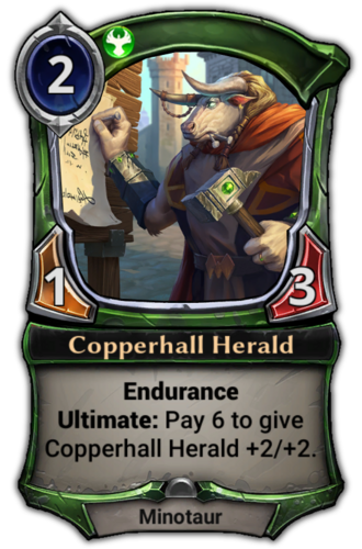 Copperhall Herald card