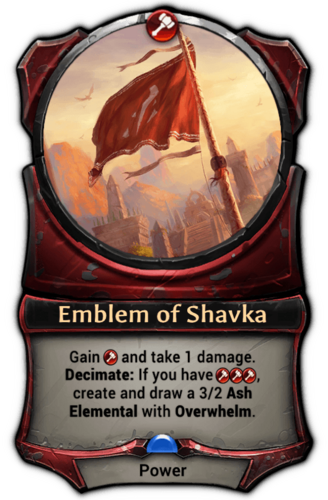 Emblem of Shavka card