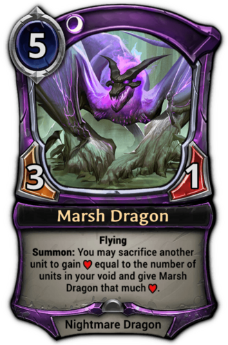 Marsh Dragon card