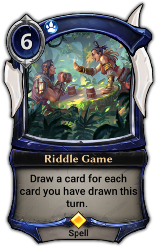 Riddle Game card