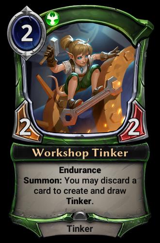 Workshop Tinker card