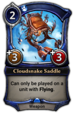 Cloudsnake Saddle