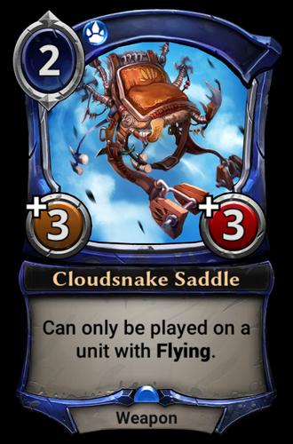 Cloudsnake Saddle card