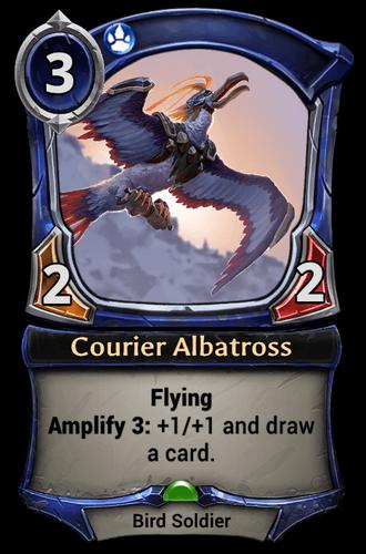 Courier Albatross card
