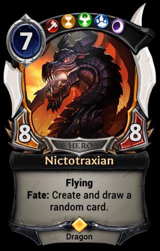 Nictotraxian card