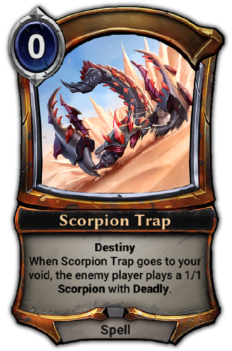 Scorpion Trap card