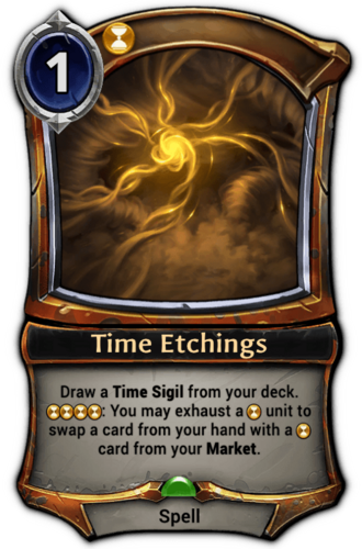 Time Etchings card