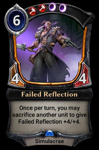 Failed Reflection card