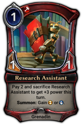 Research Assistant card