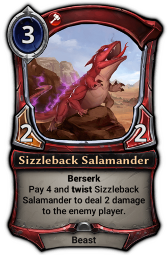 Sizzleback Salamander card