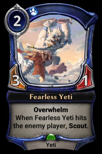 Fearless Yeti card