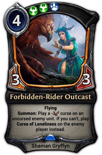 Forbidden-Rider Outcast card