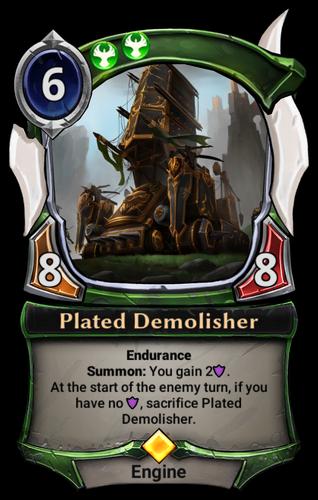Plated Demolisher card