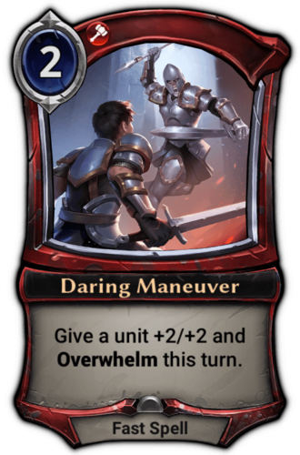 Daring Maneuver card