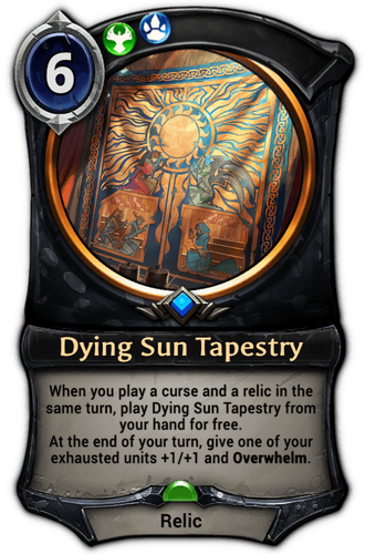 Dying Sun Tapestry card