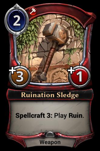 Ruination Sledge card