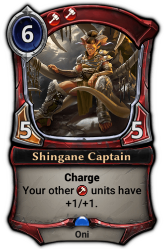 Shingane Captain card