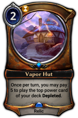Vapor Hut card