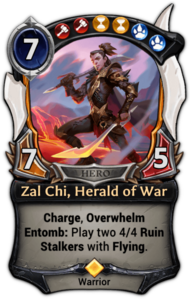 Zal Chi, Herald of War