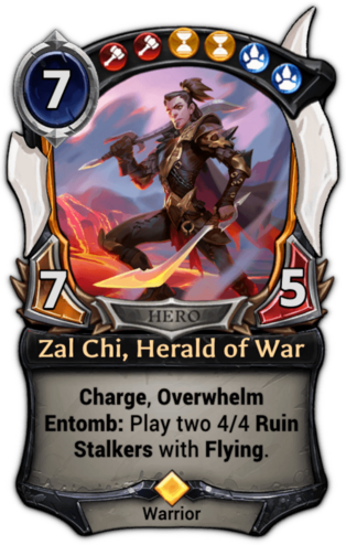 Zal Chi, Herald of War card