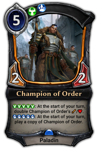 Champion of Order card