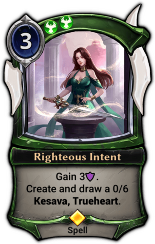 Righteous Intent card