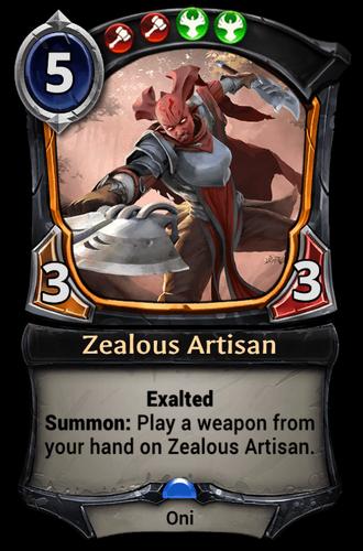 Zealous Artisan card