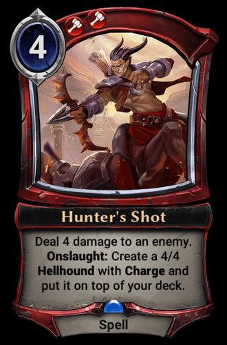 Hunter's Shot card