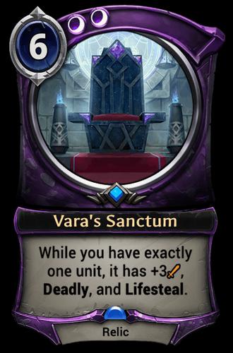 Vara's Sanctum card