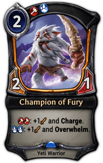 Champion of Fury card