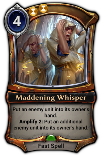 Maddening Whisper card