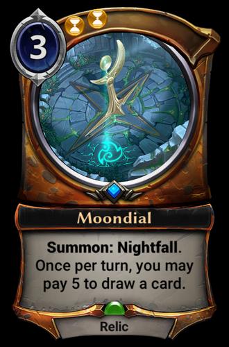 Moondial card