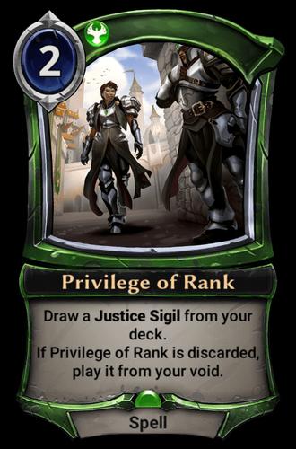 Privilege of Rank card