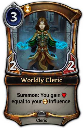 Worldly Cleric card