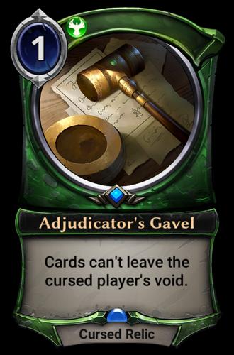 Adjudicator's Gavel card