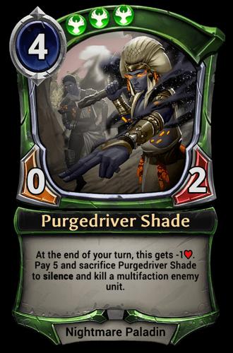 Purgedriver Shade card