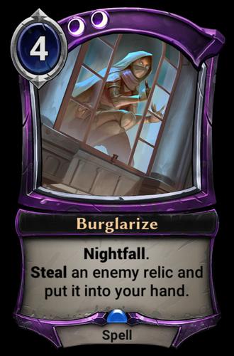 Burglarize card