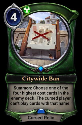 Citywide Ban card