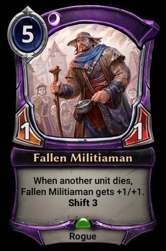 Fallen Militiaman card