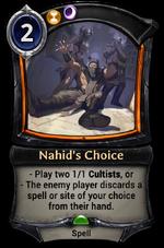 Nahid's Choice