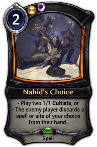 Nahid's Choice card