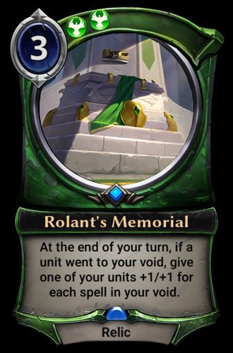 Rolant's Memorial card